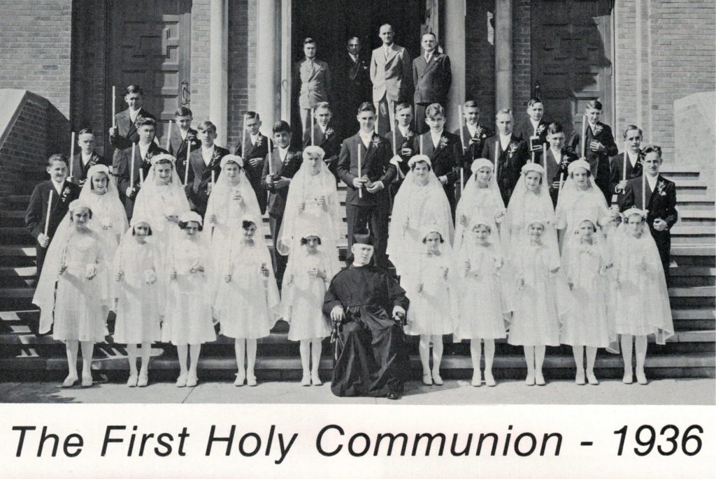 1936 first communion at St. John Kanty