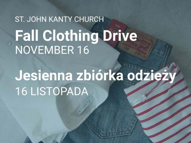 Fall Clothing Drive