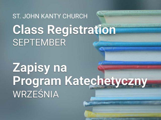 Class Registration — Zapisy Na Program Katechetyczny